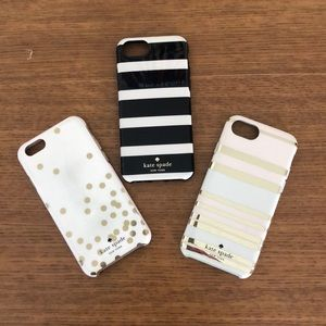 Kate Spade set of three phone cases iPhone 6/7/8